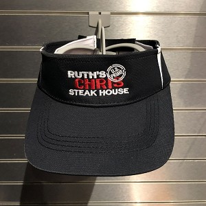 Ruth's Chris Color Block Visor w/ Logo Black - R-STC13-B