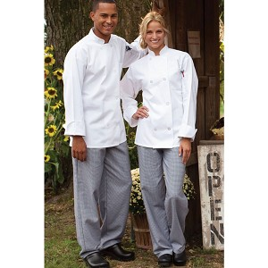 "Ruth's Chris 3"" Classic Chef Pant Houndstooth - 4000"